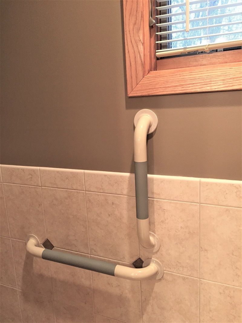 Our Non-Slip Grip Tight™ Grab Bars Won't Let you Down