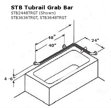 Tub Rail Grab Bar