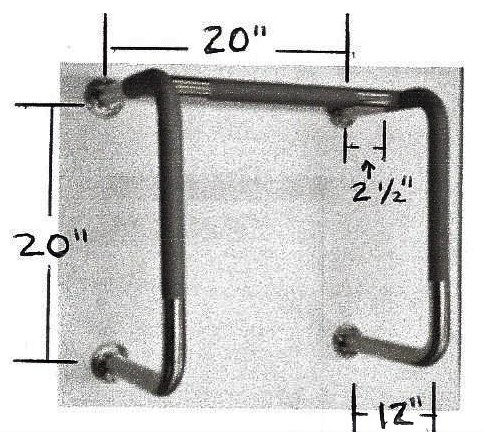 Urinal Grab Bar Illistration